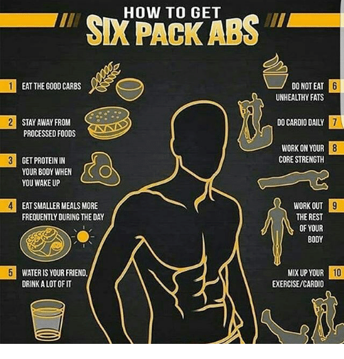 what foods to eat to get a six pack