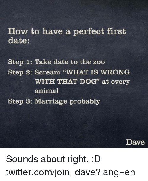What would be the perfect first date
