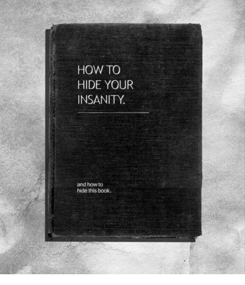 Memes, Book, and How To: HOW TO  HIDE YOUR  INSANITY.  and how to  hide this book.