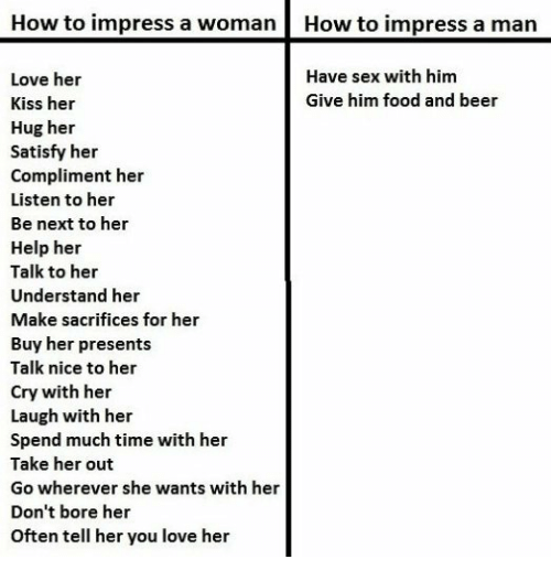 How to impress women for sex