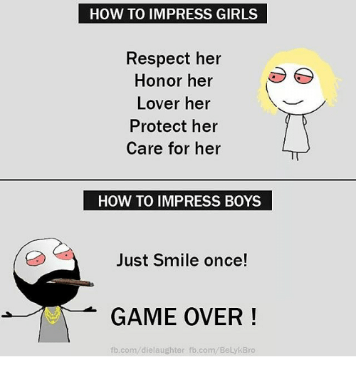 How to impress a girl on fb