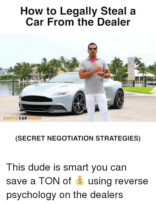 How To Legally Steal A Car From The Dealer Exotic Car Hacks Secret