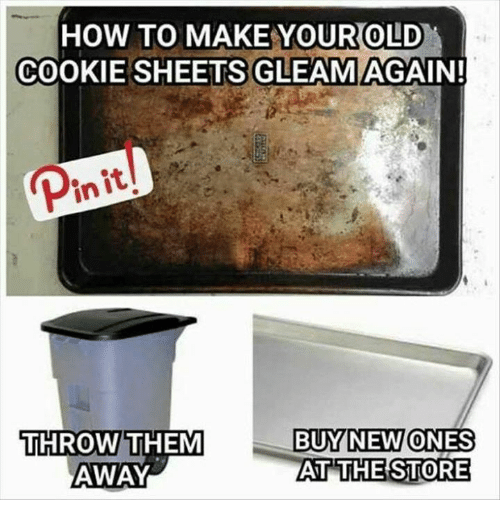 HOW TO MAKE YOUR OLD COOKIE SHEETS GLEAM AGAIN! Init BUY NEW