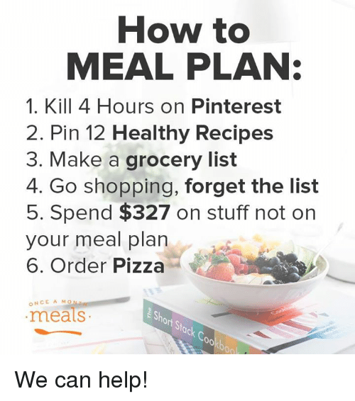 How to MEAL PLAN 1 Kill 4 Hours on Pinterest 2 Pin 12