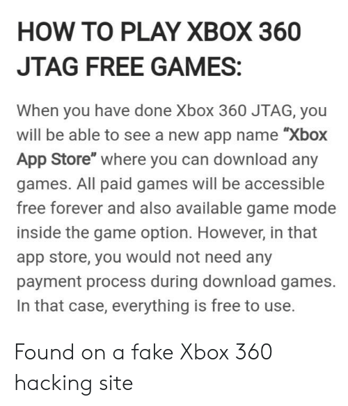 HOW TO PLAY XBOX 360 JTAG FREE GAMES When You Have Done Xbox