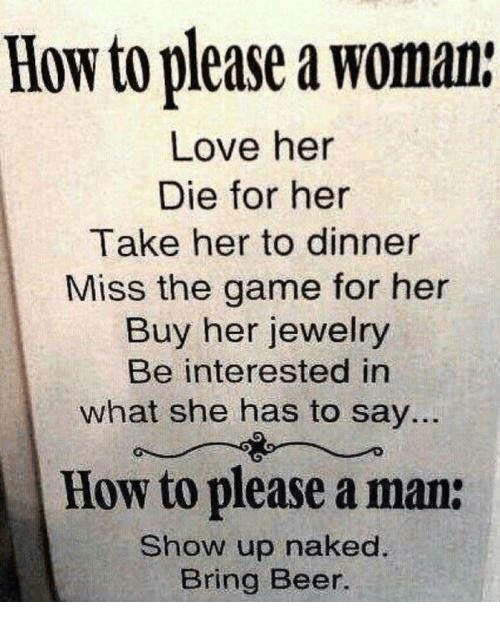How can a woman please a man in bed