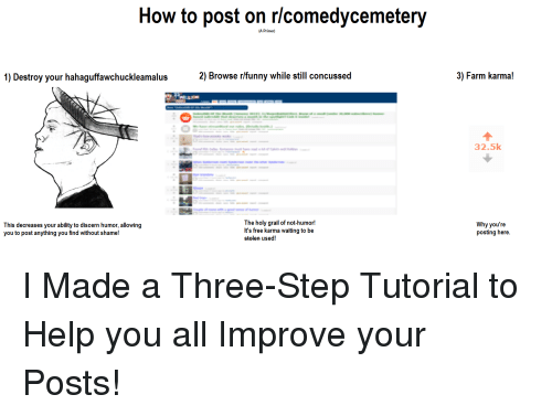 How to Post on Rcomedycemetery a Primer 1 Destroy Your