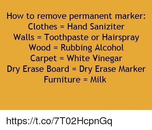 How To Remove Permanent Marker Clothes Hand Sanziter Walls