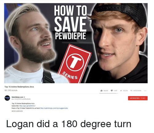 How To Save Pewdiepie Series Top 10 Anime Redemptions Arcs 10672