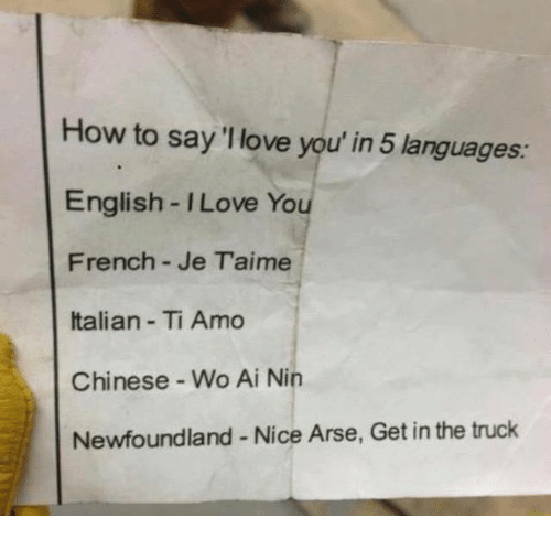 How To Say I Love You In 5 Languages English I Love You French Je