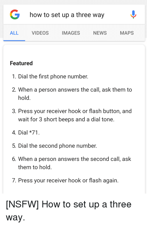 Dial hook up