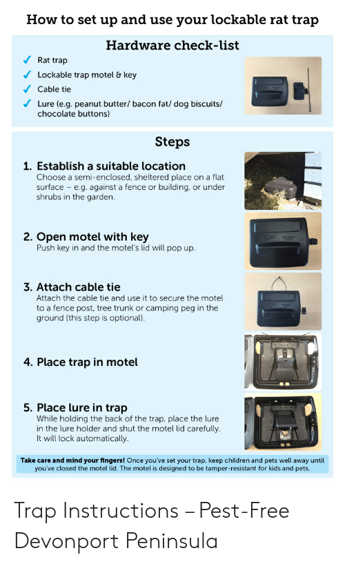 How to Set Up and Use Your Lockable Rat Trap Hardware Check-List Rat