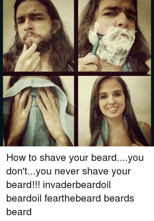 How To Shave Your Beardyou Don Tyou Never Shave Your Beard