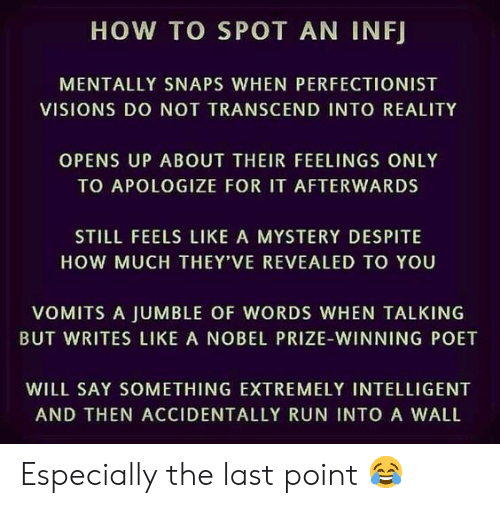 HOW TO SPOT AN INFJ MENTALLY SNAPS WHEN PERFECTIONIST