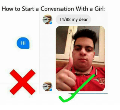 how to start the conversation with a girl on facebook