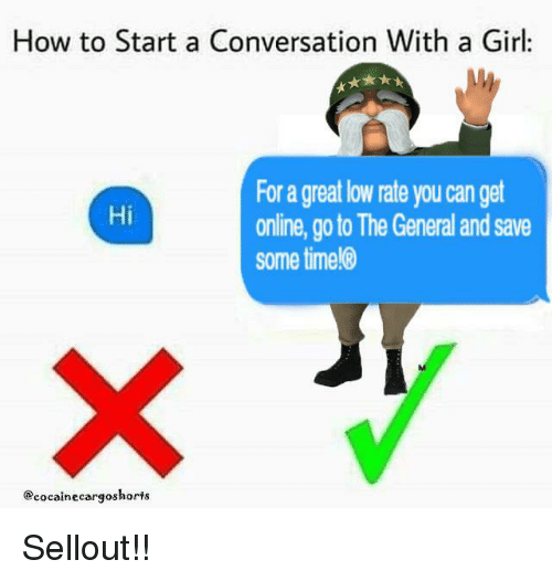 How to start a good conversation with a girl online
