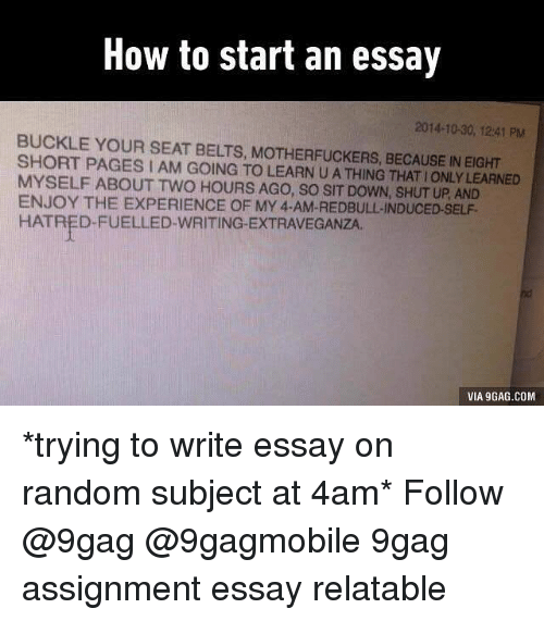 how to start an essay pm buckle your seat belts  9gag memes and buckle how to start an essay 2014 10
