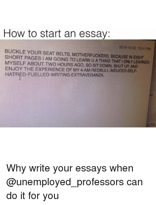 Why am i going to college essay