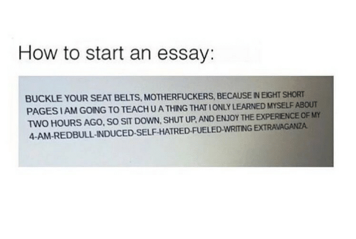 how to start an essay buckle your seat belts because  shut up buckle and how to how to start an essay buckle
