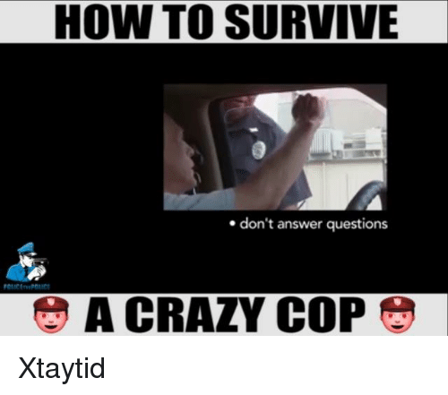 How To Survive Don T Answer Questions A Crazy Cop Xtaytid Meme On Me Me