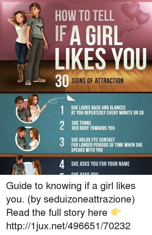 How to come to know that a girl likes you