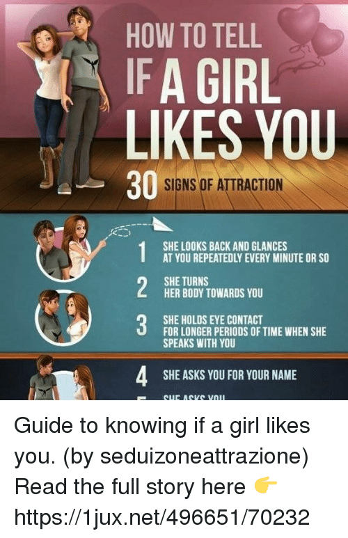 Signs a woman likes you body language