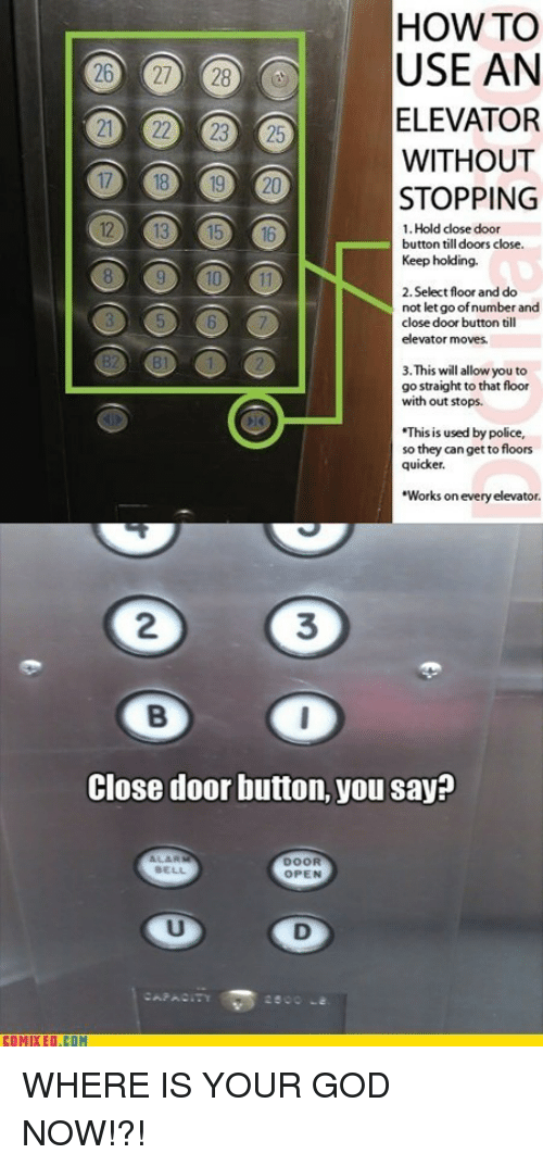 How To Use An Elevator Without Stopping 1 Hold Close Door Button