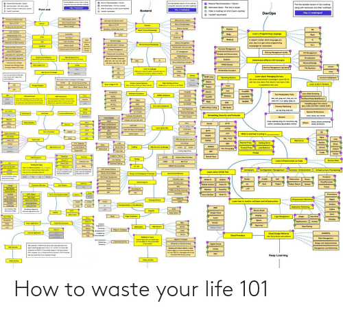 Life, How To, and How: How to waste your life 101
