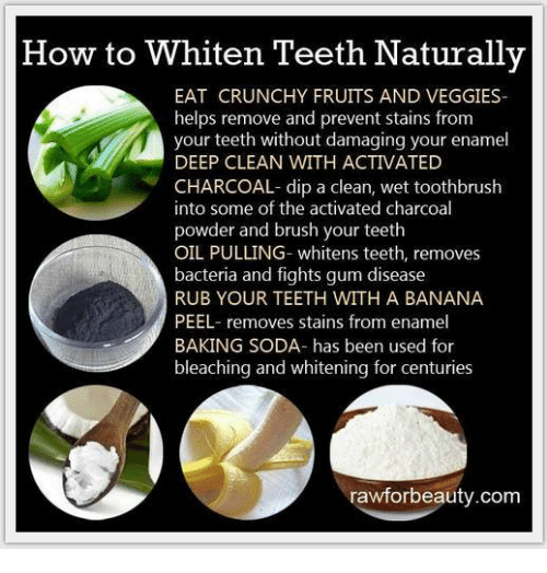 How To Whiten Teeth Naturally Eat Crunchy Fruits And Veggies Helps