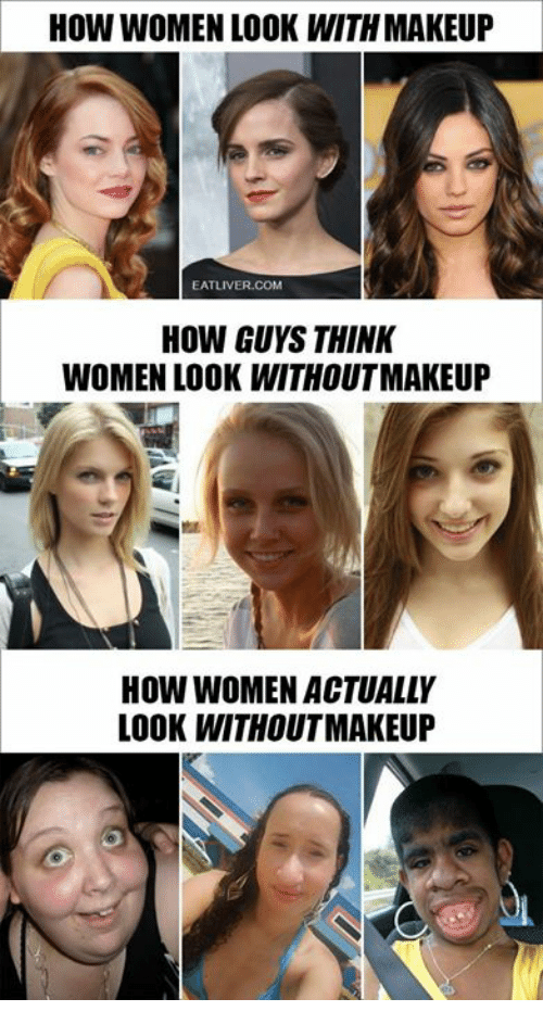 Guys about makeup think what Why do