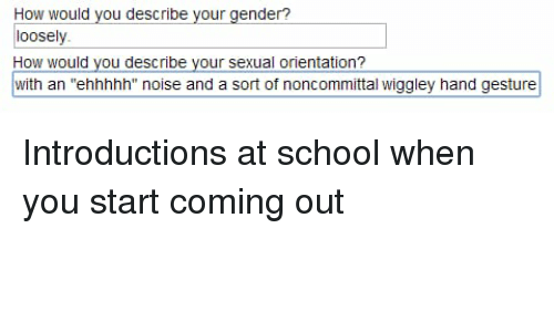 How Would You Describe Your Gender? Loosely How Would You