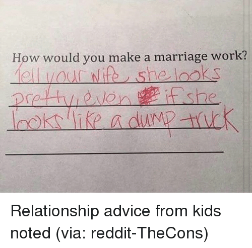 Marriage and dating advice