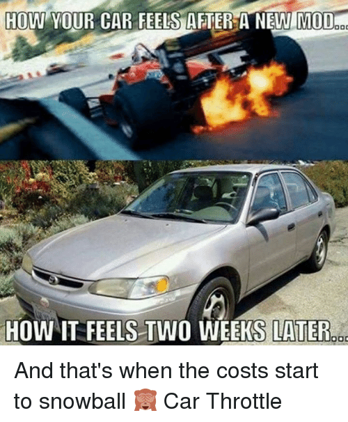 HOW YOUR CAR FEELS AFTER a NEW MOD HOW IT FEELS TWO WEEKS
