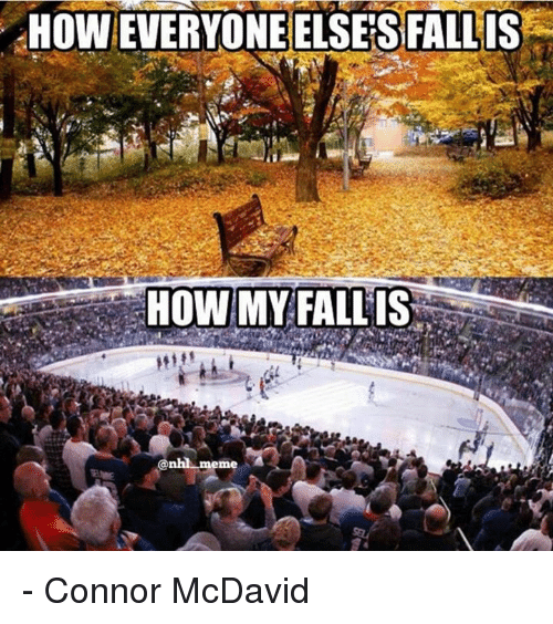 Hockey, Meme, and National Hockey League (NHL): HOWEVERYONEELSESFALLIS  HOW MY PALLIS  @nhl meme - Connor McDavid