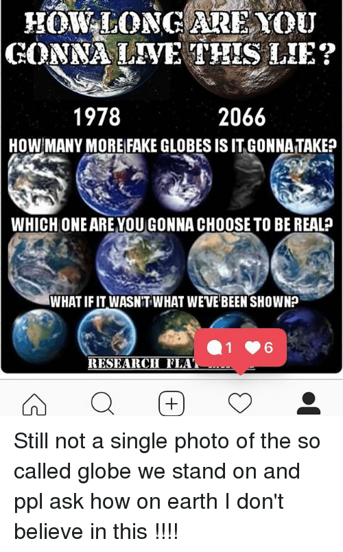 HOWLONGARE YOU 1978 2066 HOW MANY MORE FAKE GLOBES IS IT