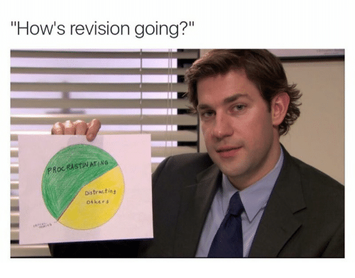 How's Revision Going? PROC RISTINAT ING Distractins Others ...