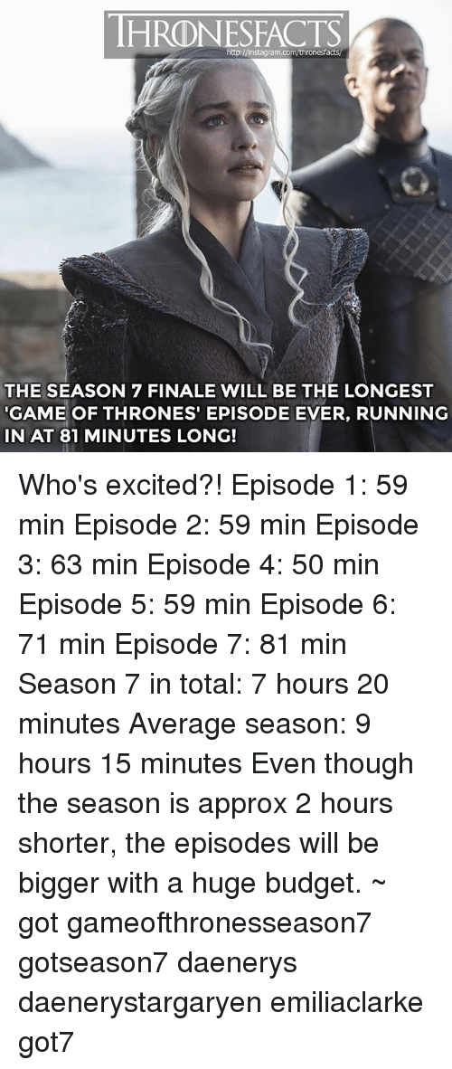 hrdnesfacts http j instagram com thronesfacts the season 7 finale will be the longest 23122161 hrdnesfacts jinstagramcomthronesfacts the season 7 finale will