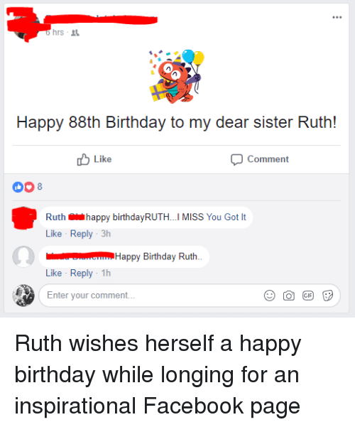 Hrs Happy 88th Birthday To My Dear Sister Ruth Like Comment 008