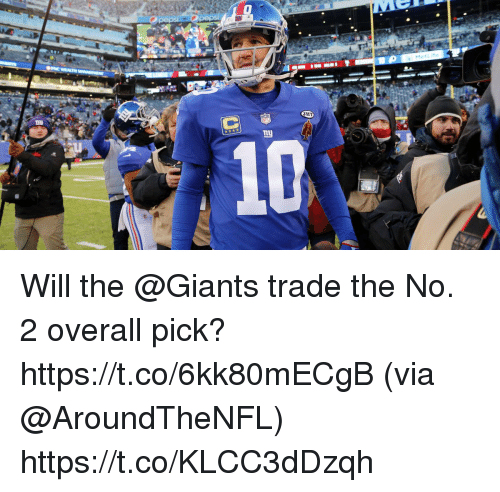 Memes, Giants, and 🤖: HT  10 Will the @Giants trade the No. 2 overall pick? https://t.co/6kk80mECgB (via @AroundTheNFL) https://t.co/KLCC3dDzqh