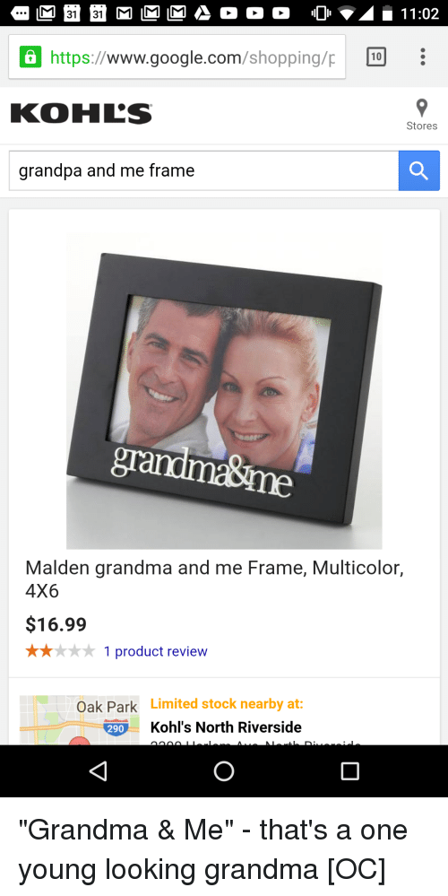 Https WWW Googlecom Shoppingp 10 KOHL S Stores Grandpa and Me Frame ...