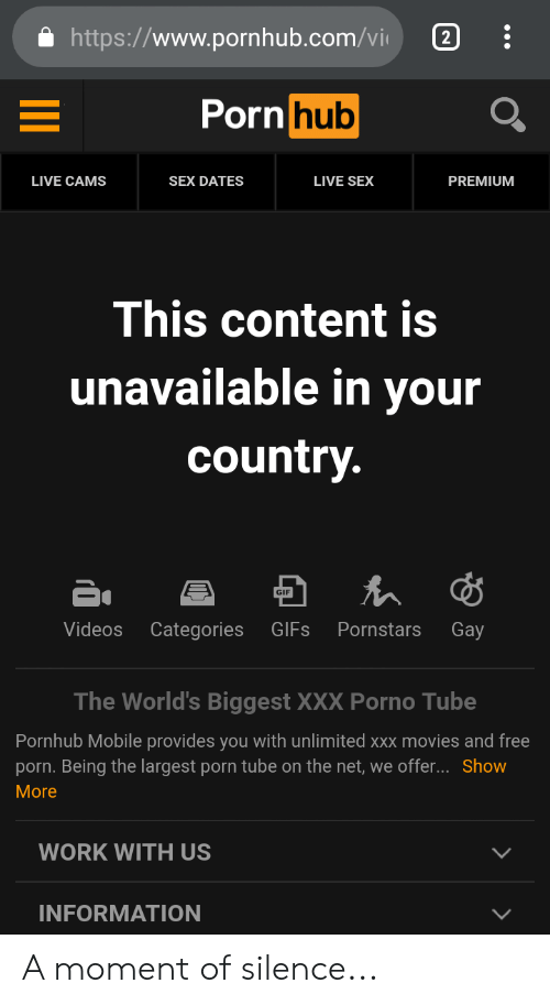 Pornhub video unavailable in your country