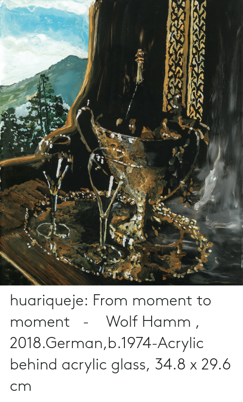 Tumblr, Blog, and Wolf: huariqueje:    From moment to moment -    Wolf Hamm  , 2018.German,b.1974-Acrylic behind acrylic glass, 34.8 x 29.6 cm