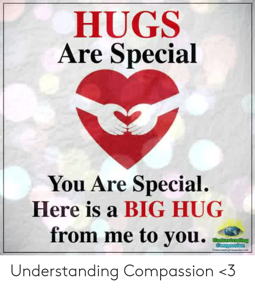 Memes, Compassion, and Understanding: HUGS  Are Special  You Are Special  Here is a BIG HUG  from me to voag Understanding Compassion <3