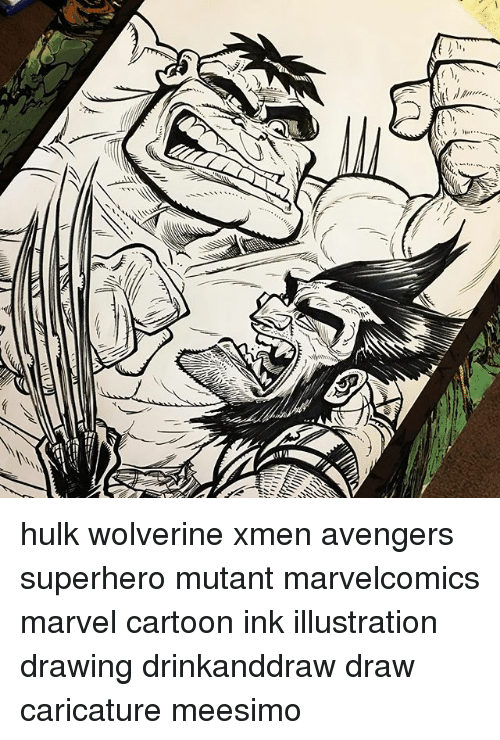 Hulk Wolverine Xmen Avengers Superhero Mutant Marvelcomics Marvel