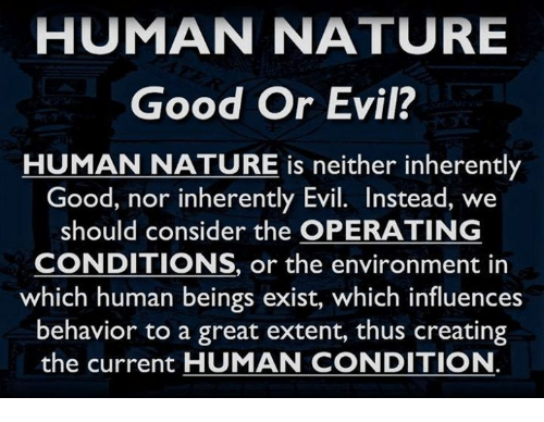 Good and Evil: Interpreting a Human Condition