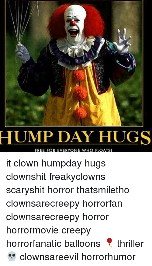 hump day hugs free for everyone who floats it clown 8427110 hump day hugs free for everyone who floats! it clown humpday hugs