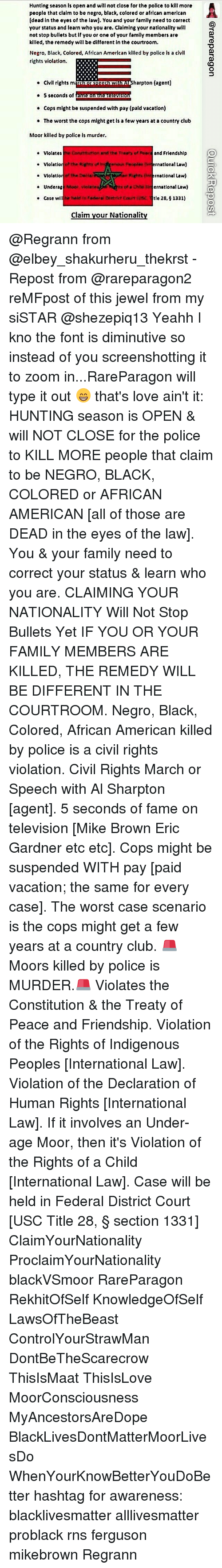 Al Sharpton, Club, and Memes: Hunting season is open and will not close