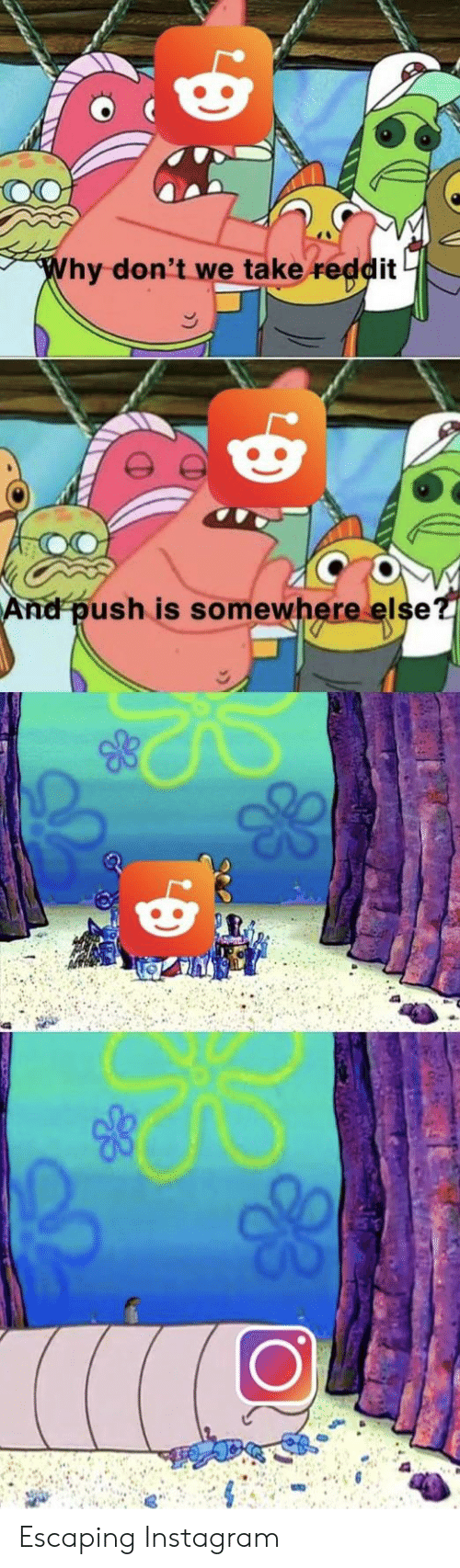 Instagram spongebob and push hy dont we take it and push