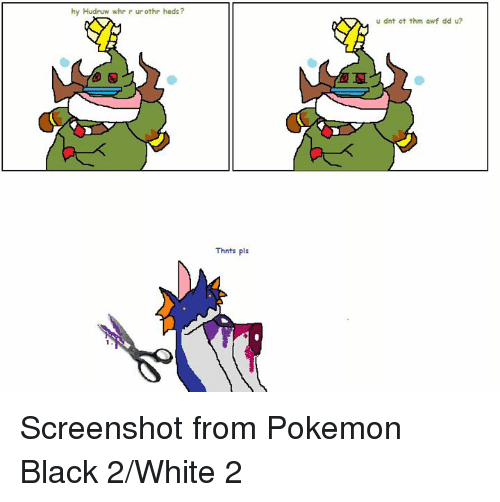 Pokemon Black And White Meme