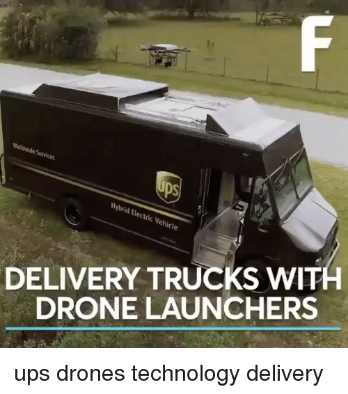 Hybrid Electric Vehicles DELIVERY TRUCKS WIT DRONE
